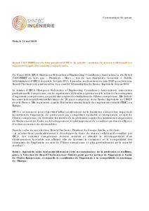 Benoît CLOCHERET est élu futur président d'EFCA. Sa priorité : renforcer le réseau collaboratif des ingénieries auprès des autorités européennes.