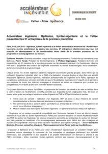 Accélérateur Ingénierie: Bpifrance, Syntec-Ingénierie et le Fafiec présentent les 21entreprises de la première promotion.