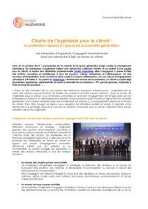 Charte de l'ingénierie pour le climat : la profession répond à l'appel de la nouvelle génération