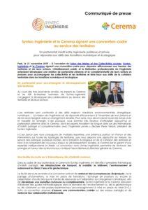Syntec-Ingénierie et le Cerema signent une convention-cadre  au service des territoires