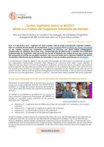 Syntec-Ingénierie lance un MOOC dédié aux métiers de l'ingénierie industrielle de demain