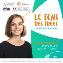 France Bakkar, responsable d'activité climat se raconte dans le 1er podcast du Sens des idées