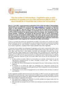 Plan de soutien à l'aéronautique : l'ingénierie salue un plan ambitieux