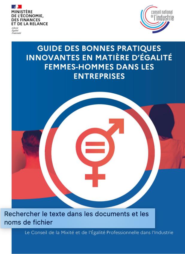 guide de bonnes pratiques innovantes en matière d'égalité femmes-hommes dans les entreprises : partagez les vôtres !