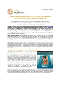 Syntec-Ingénierie publie Alice et les pouvoirs de l'ingénierie : un livre découverte pour les enfants dès 6 ans