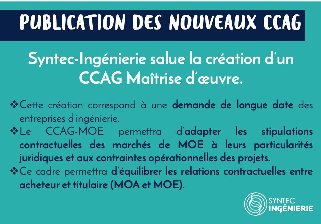 Publication des nouveaux CCAG : Syntec-Ingénierie salue la création d'un CCAG Maîtrise d'œuvre