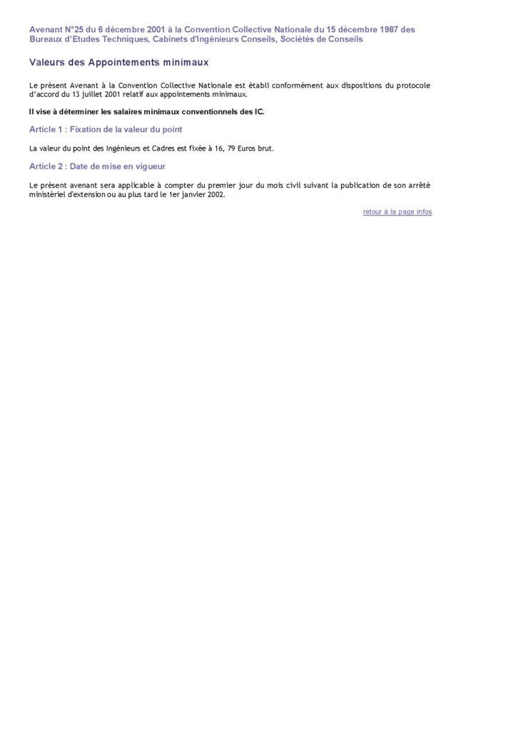Minima Conventionnels Archives Page 2 sur 2 SyntecIngnierie