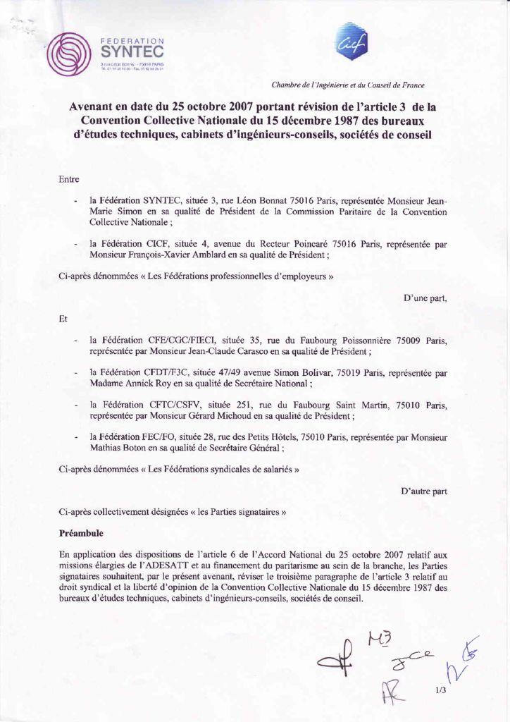 Accords et avenants Archives Page 4 sur 9 SyntecIngnierie