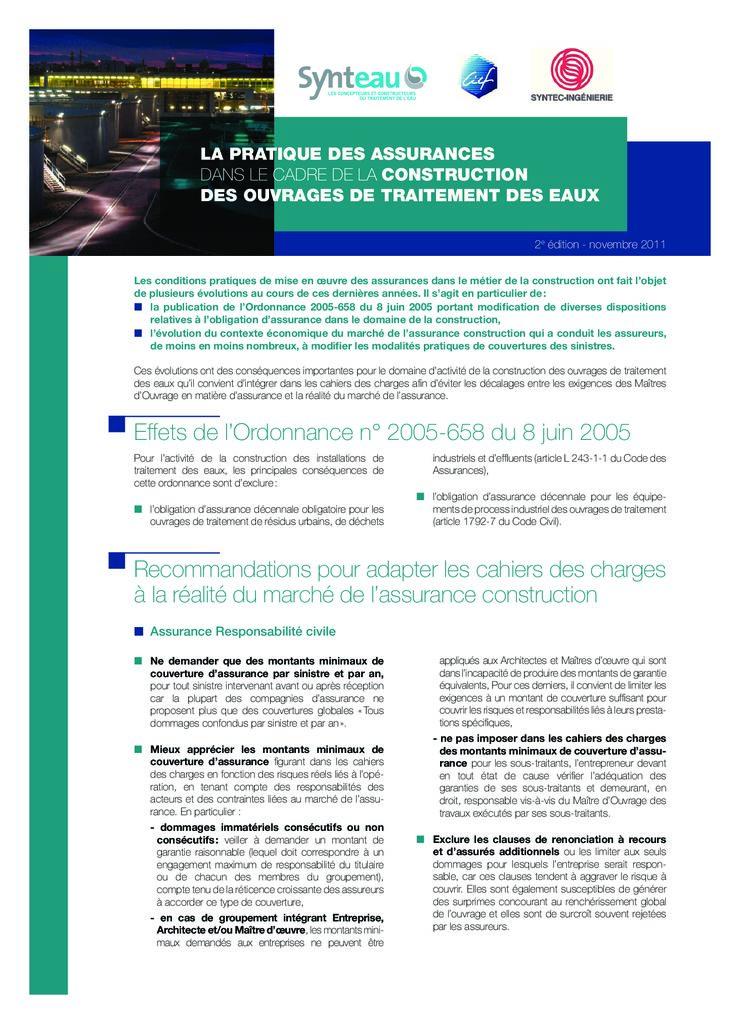 thumbnail of 2011-11-01</br>La-pratique-des-assurances-dans-le-cadre-de-la-construction-des-ouvrages-de-traitement-des-eaux